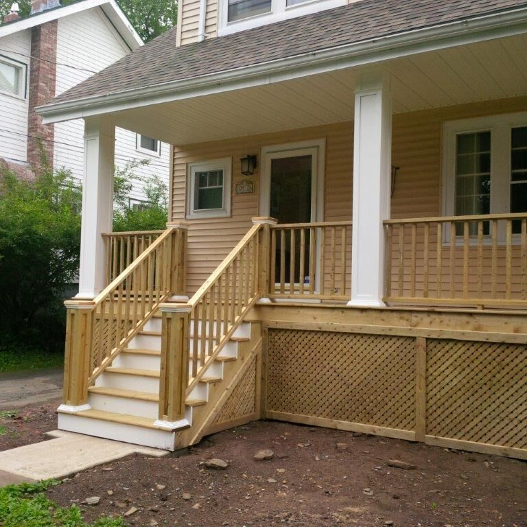 Pressure Treated Porch With Pvc Columns