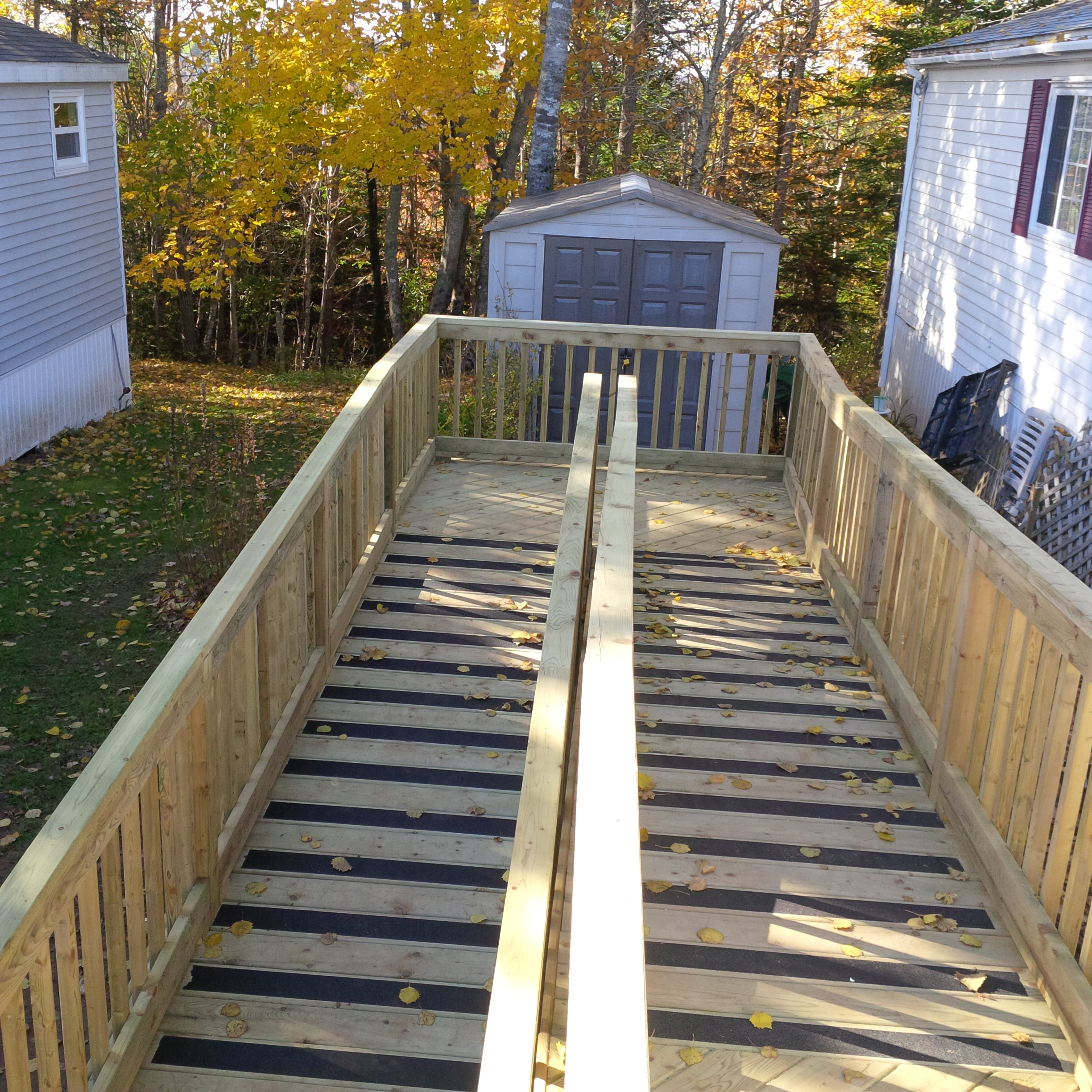 Pressure Treated Wood Accessibility Ramp