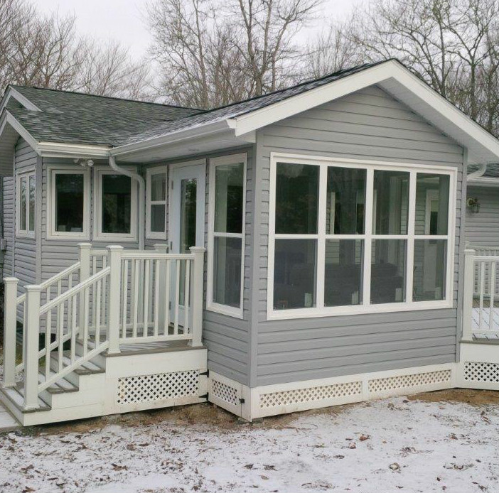 Composite Deck And Sunroom