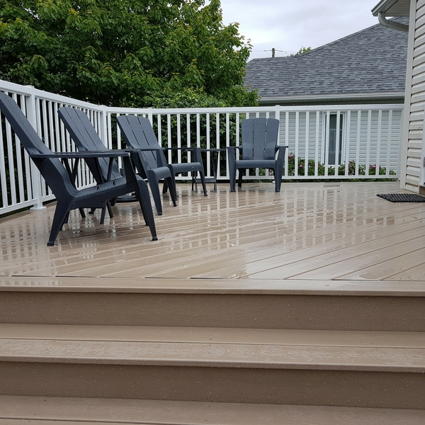 Composite decking material pros and cons when building a deck for Disadvantages of composite decking