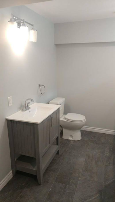 basement bathroom renovation in HRM
