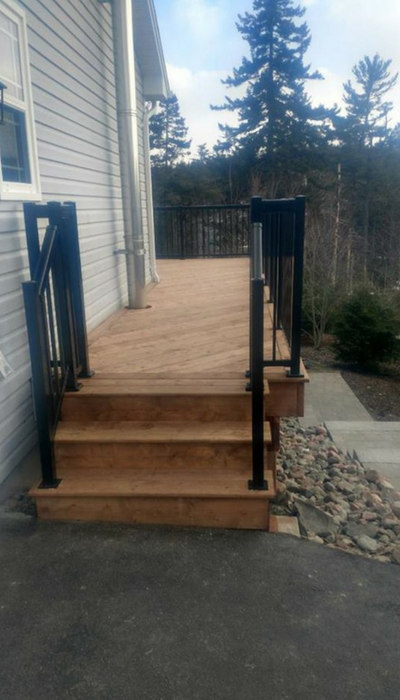 treated deck in HRM