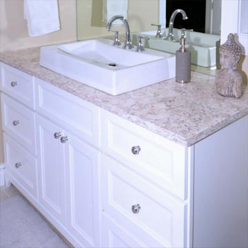 Bathroom sink and vanity renovation in HRM