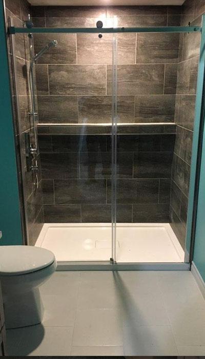 walk-in shower bathroom renovation in HRM