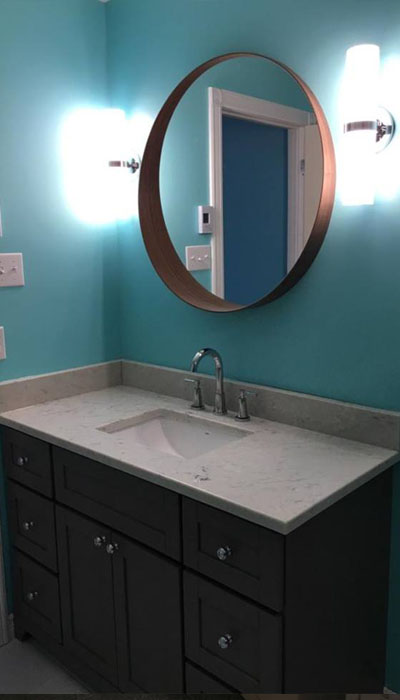 bathroom remodel vanity in HRM
