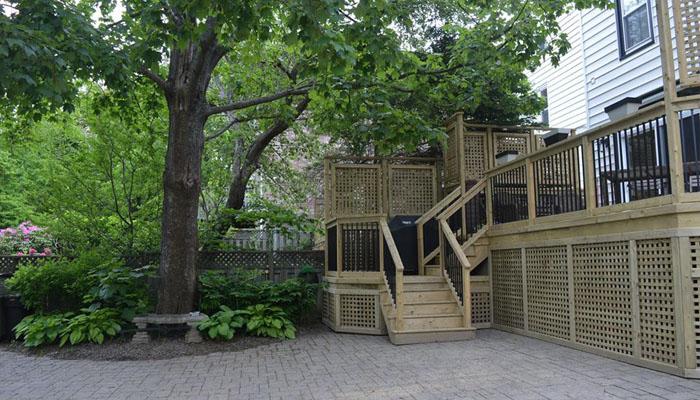 open concept deck in Halifax