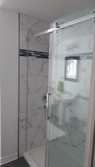 custom walk-in shower remodel