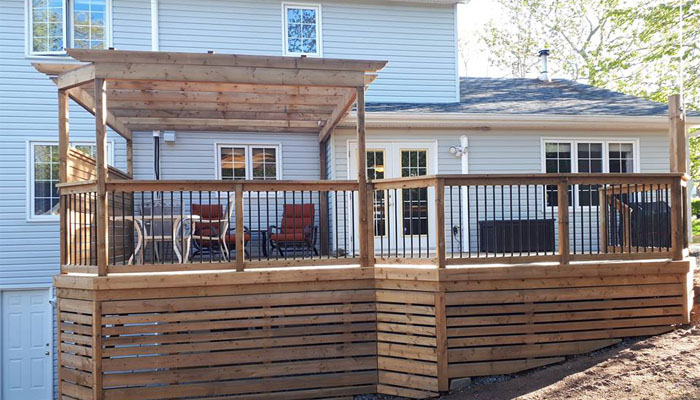 deck and railing HRM