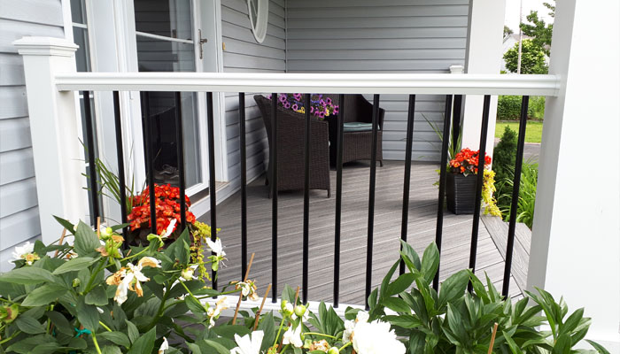 composite deck with railing in HRM