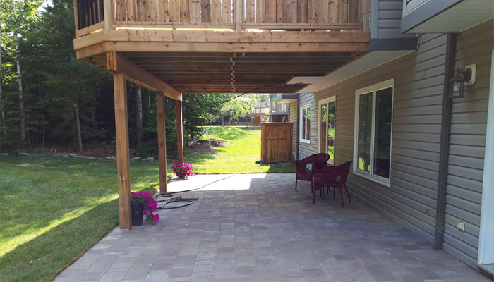 deck and paved patio Halifax