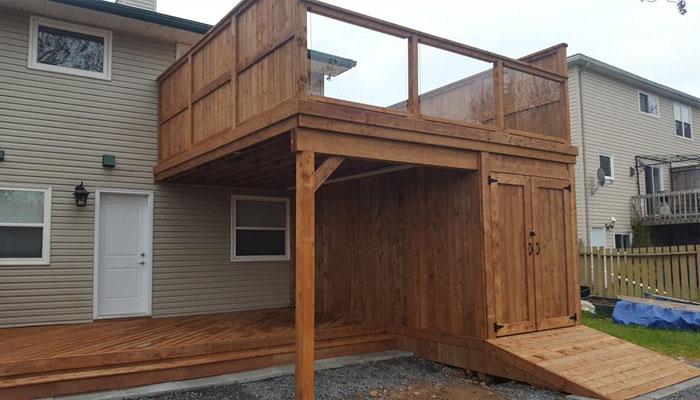 deck with storage area halifax