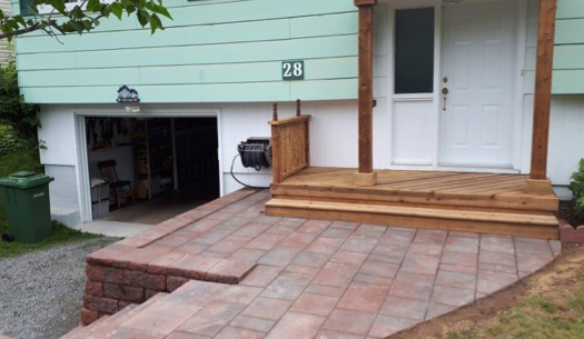 porch with hardscaping HRM