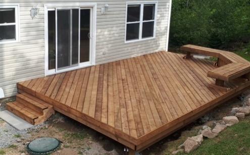 wooden deck in halifax