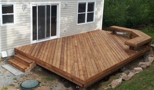 wooden deck in halifax