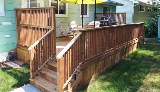 pressure treated deck HRM