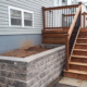 Front Deck with Stone Retaining Wall and Hardscaping