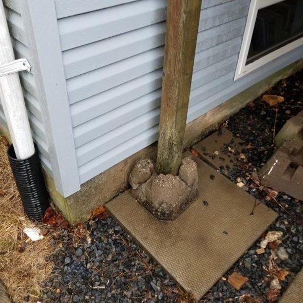Improper Deck Footings